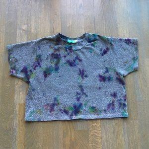 Joah Brown • Cropped grey top